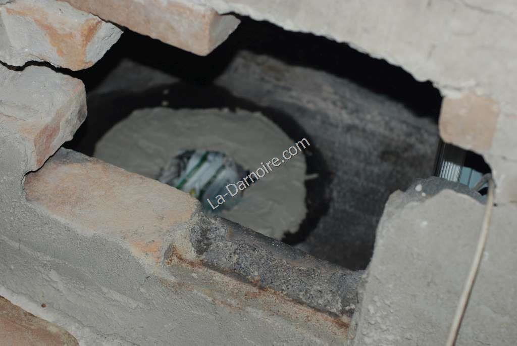Work on chimney brickwork