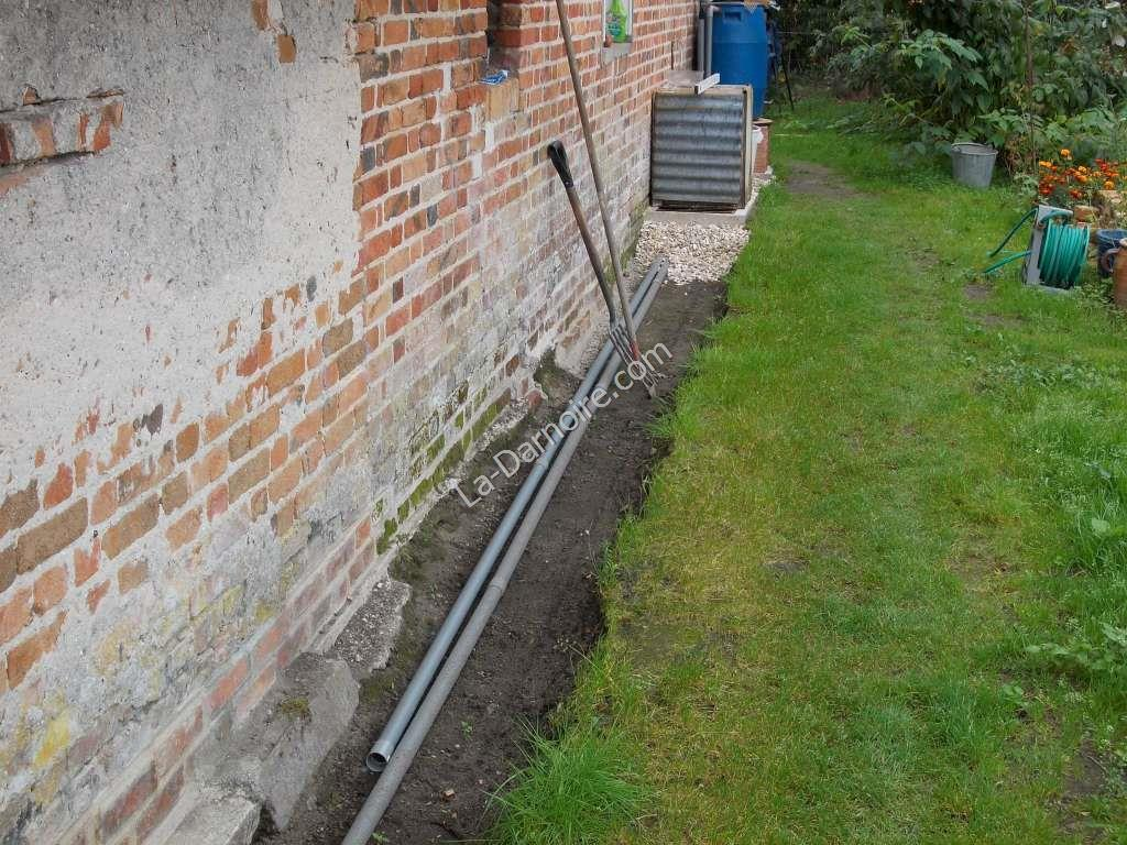 Household greywater and rainwater overflow pipes