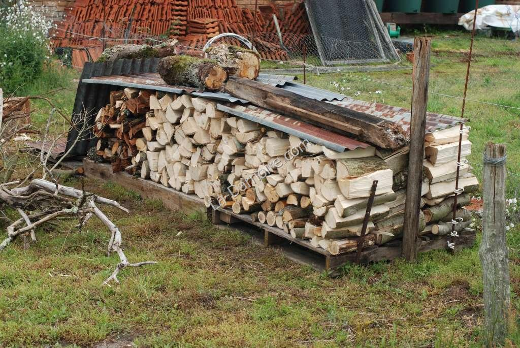 The temporary wood store