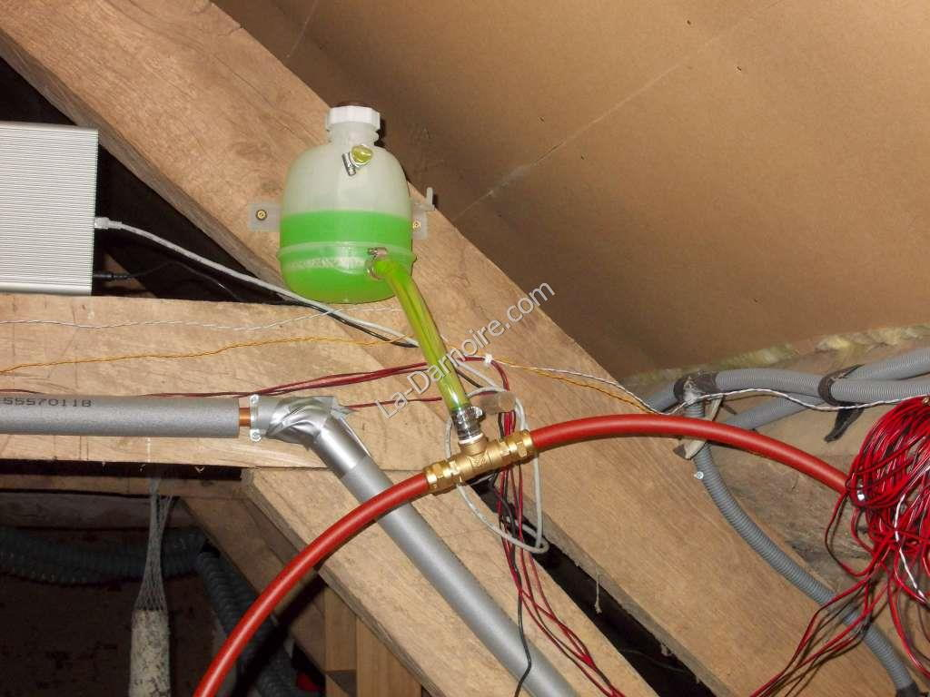 Expansion tank in solar thermal circuit