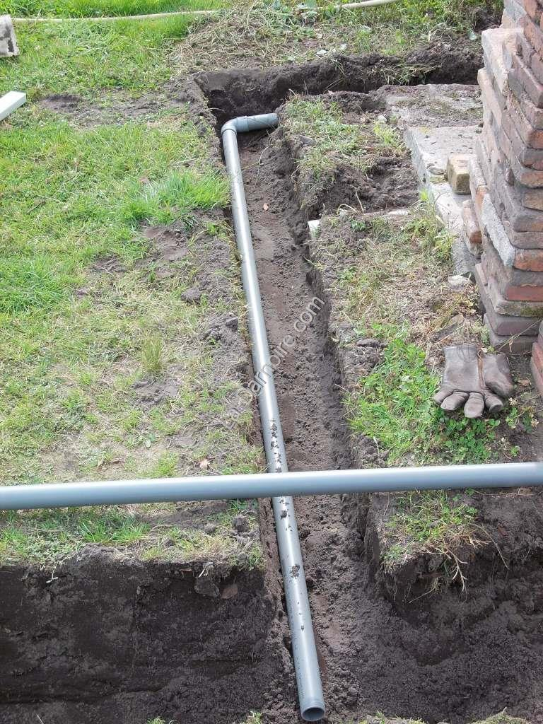 Drainage for the future summer shower cubicle