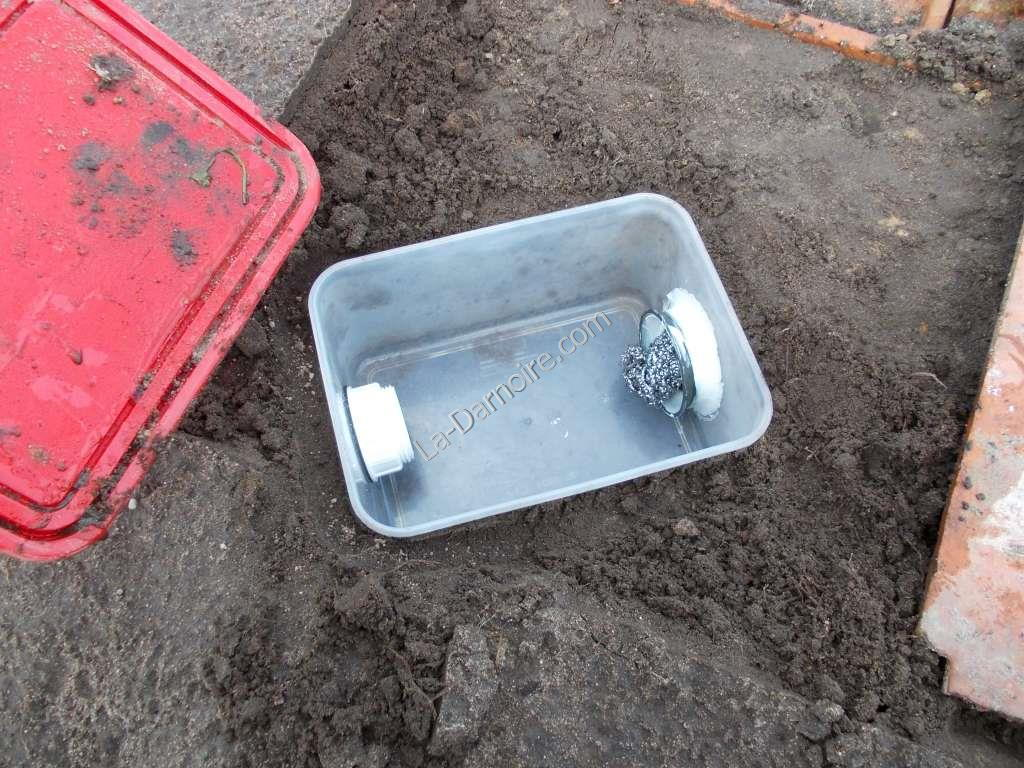 Greywater filter: a plastic box
