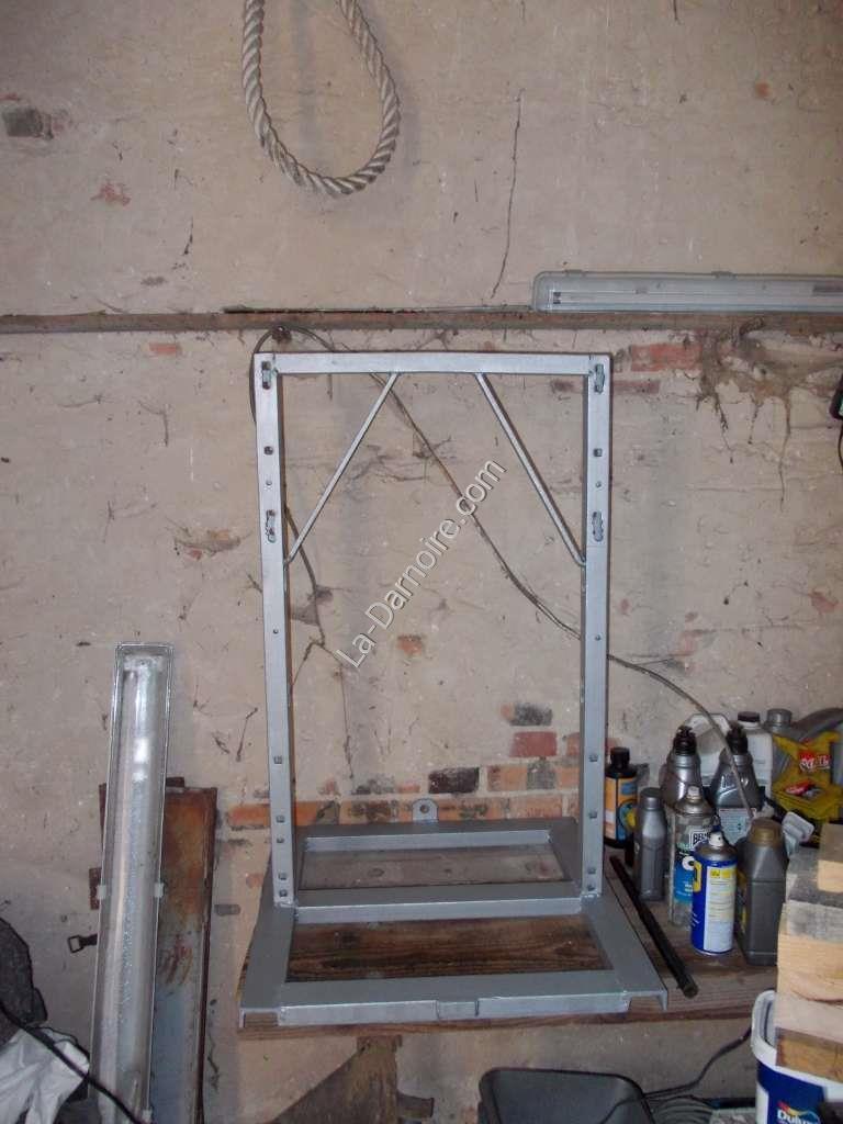Painted cider press frame