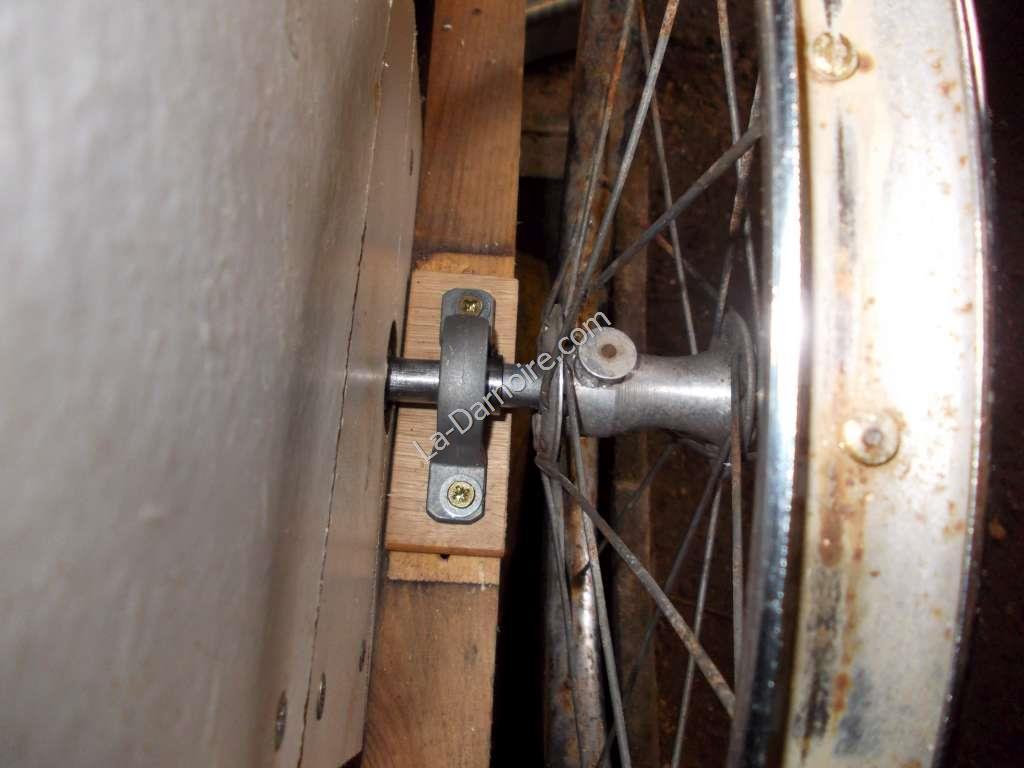 Pillow block bearing and pram wheel attachment