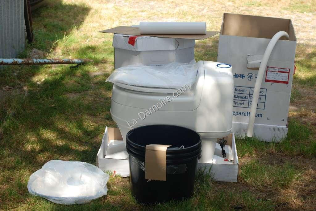The Separett Villa 9010 waterless composting toilet