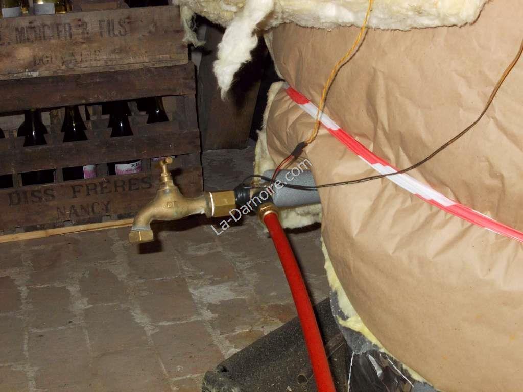 Solar thermal return with drain tap